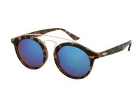 image alt - Alensa solglasögon Panto Havana Blå Spegel för barn