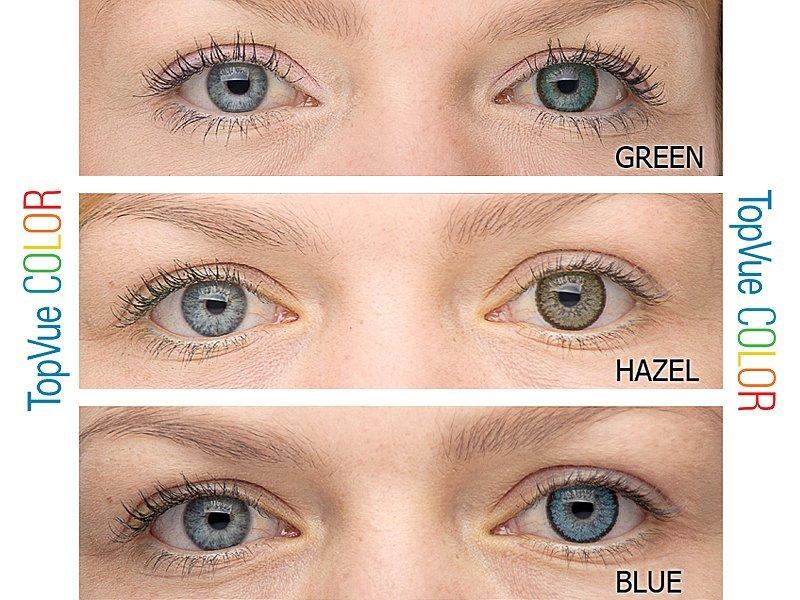 blåa linser utan styrka