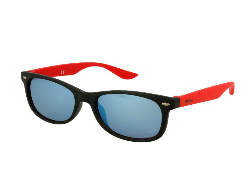 Alensa solglasögon Sport Svart Röd Spegel för barn
