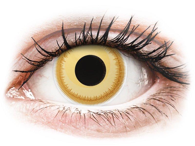 färgade linser gula
