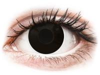 image alt - Svarta Blackout kontaktlinser - med styrka - ColourVUE Crazy