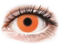 image alt - Orange Glow kontaktlinser - ColourVUE Crazy