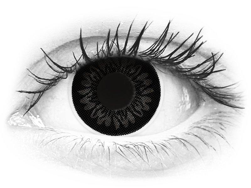svarta linser med styrka