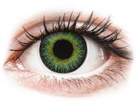 image alt - Grön Gula Fusion linser - med styrka - ColourVUE