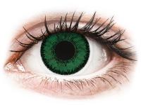 image alt - Gröna Emerald linser - SofLens Natural Colors - med styrka