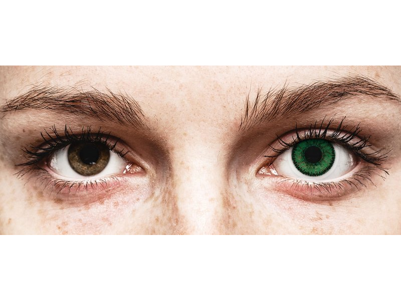 färgade linser gröna