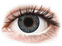 image alt - Blåa linser - FreshLook ColorBlends - Med styrka