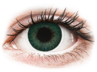 image alt - Blåa Carribean Aqua linser - FreshLook Dimensions - Med styrka