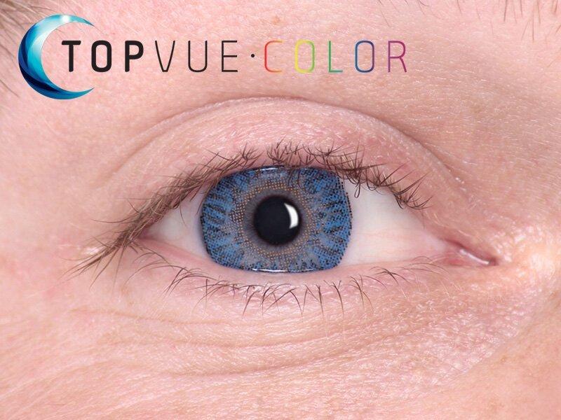 True Sapphire på blå ögon