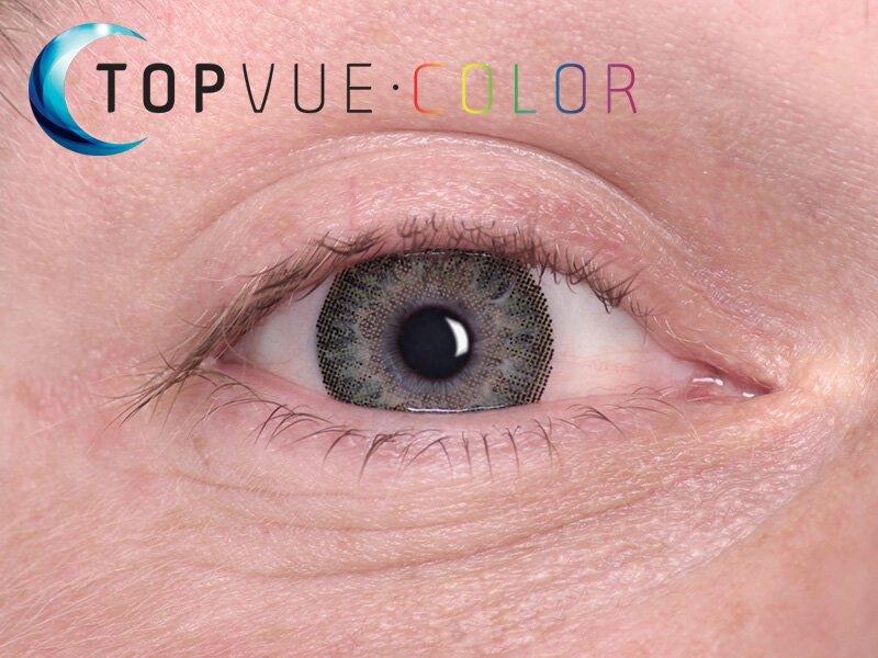 Grön på blåa ögon