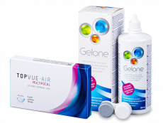 TopVue Air Multifocal (3 linser) + Gelone linsvätska 360 ml