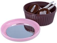 image alt - Linsetui Muffin med spegel - rosa