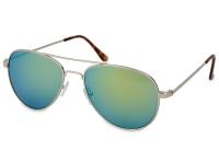 image alt - Solglasögon Silver Pilot - Blå/Grön